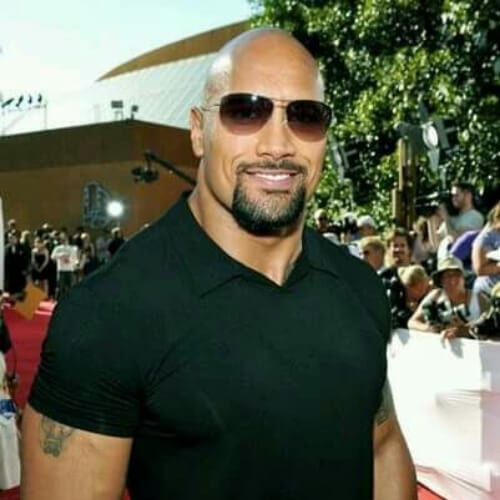 Dwayne Johnson mustache and goatee styles