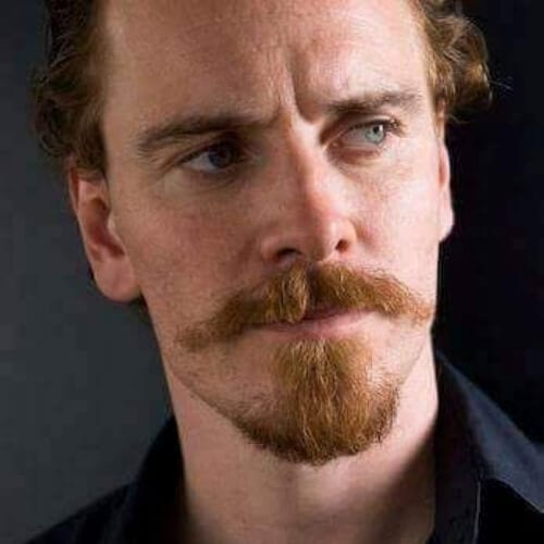Michael Fassbender mustache and goatee styles