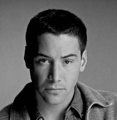 buzz cut keanu reeves hair