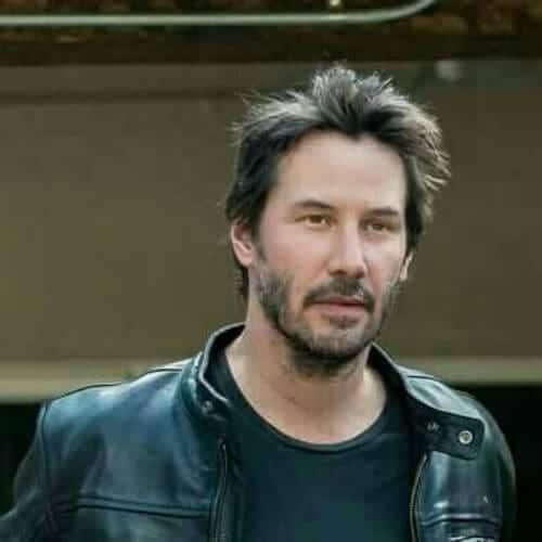 casual keanu reeves hair