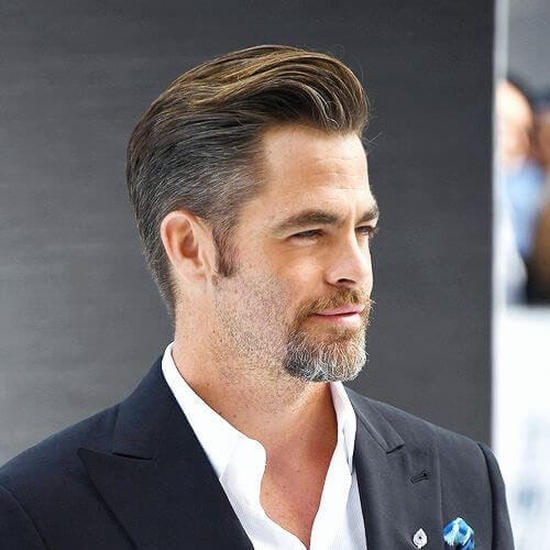 chris pine mustache and goatee styles