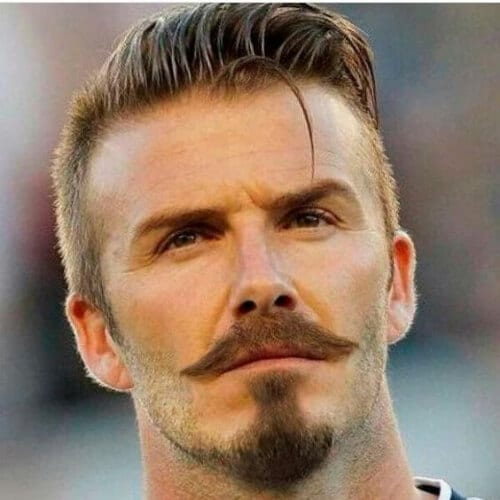 david beckham mustache and goatee styles