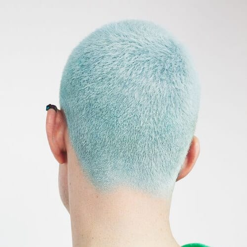 ice blue summer hairstyles for men