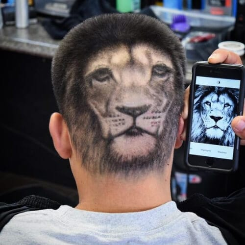 lion hair designs for boys