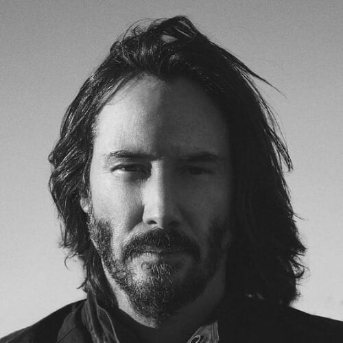 long keanu reeves hair