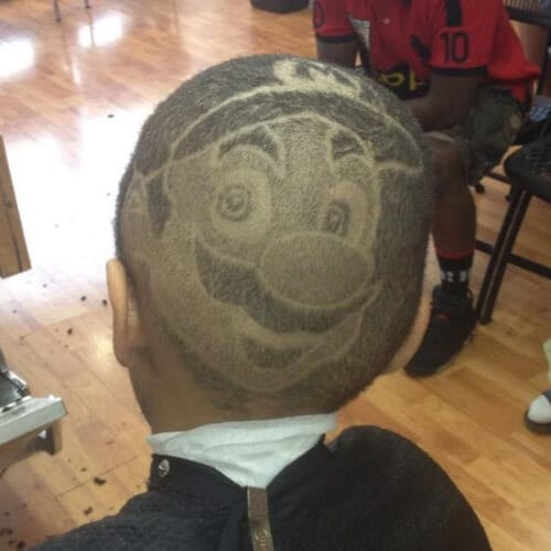 mario hair designs for boys