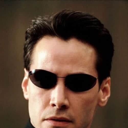 matrix keanu reeves hair