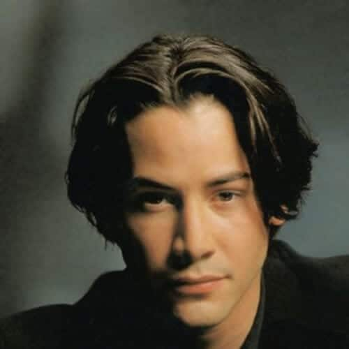 medium 90s keanu reeves hair