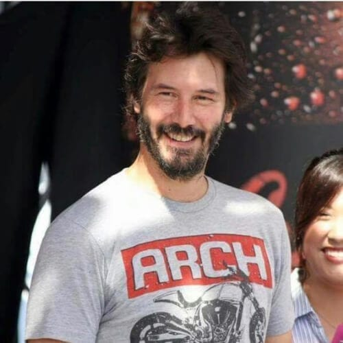 messy keanu reeves hair