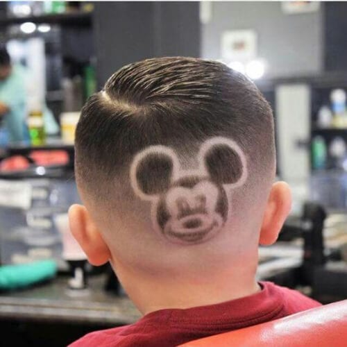 mickey mouse hair designs for boys