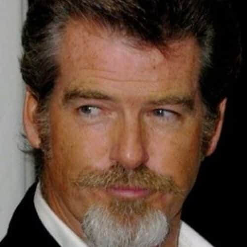 pierce brosnan mustache and goatee styles