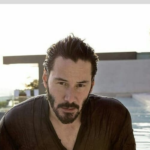slick back keanu reeves hair
