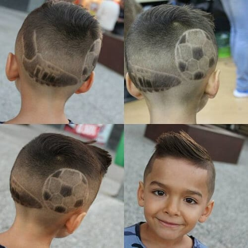 soccer hair designs for boys