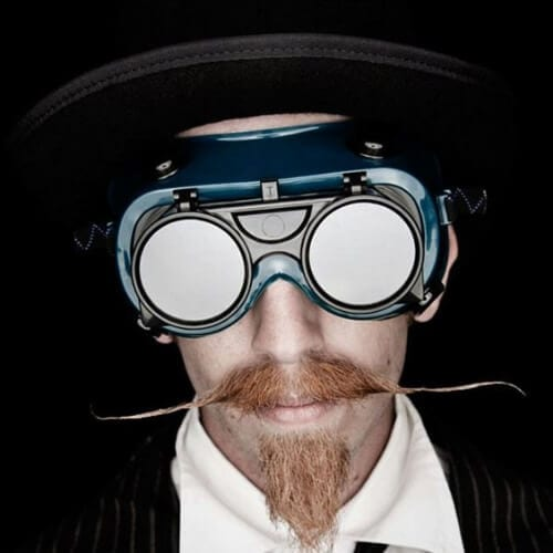 steampunk mustache and goatee styles