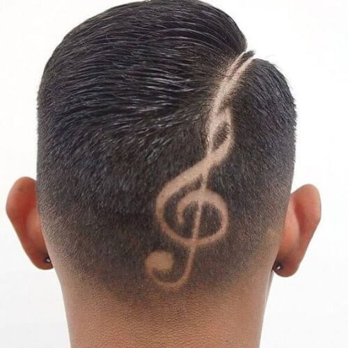 treble hair designs for boys