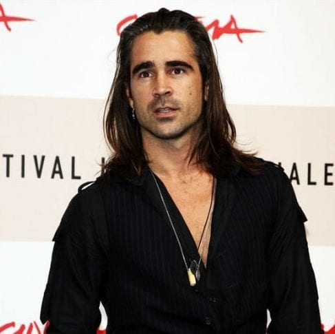 Colin Farrell mens shoulder length hairstyles