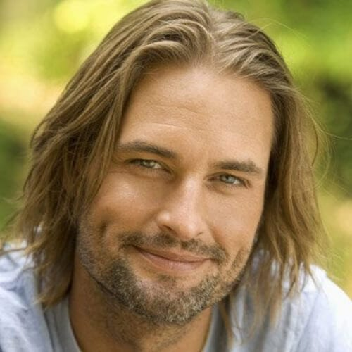 Josh Holloway lost mens shoulder length hairstyles