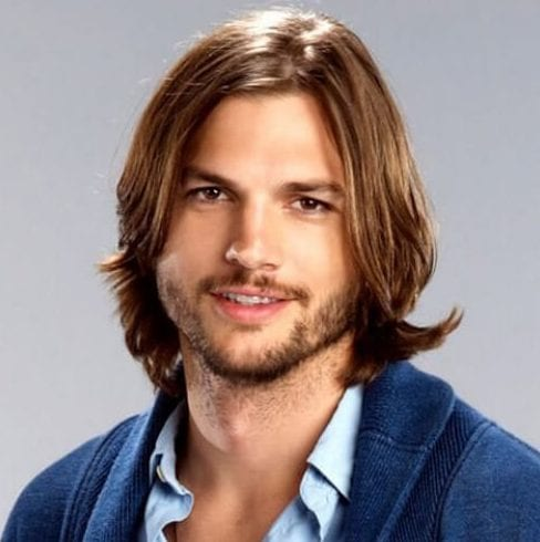ashton kutcher mens shoulder length hairstyles