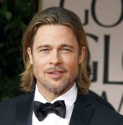 brad pitt mens shoulder length hairstyles