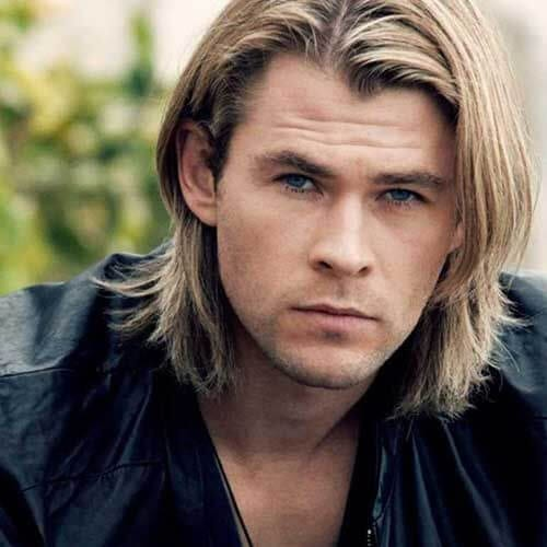 chris hemsworth mens shoulder length hairstyles