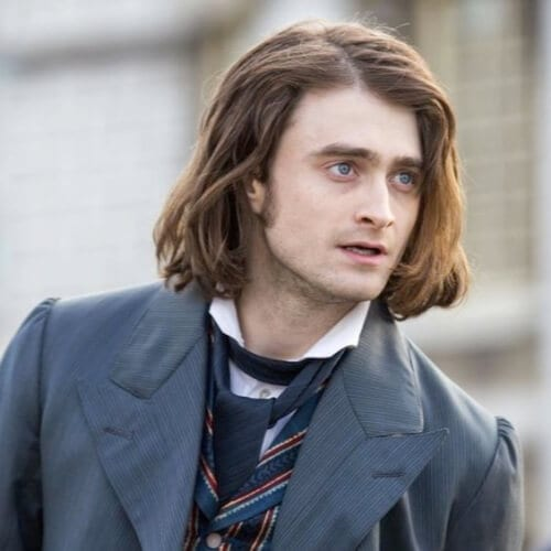 daniel Radcliffe frankenstein mens shoulder length hairstyles