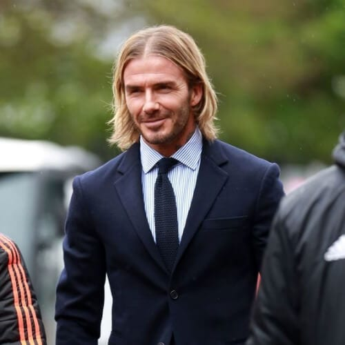david beckham mens shoulder length hairstyles