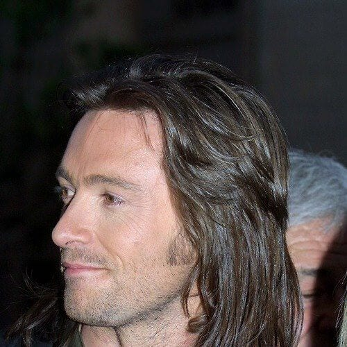 hugh jackman mens shoulder length hairstyles