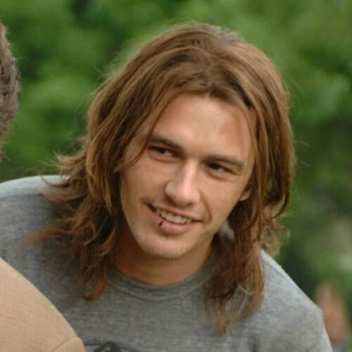 james franco mens shoulder length hairstyles