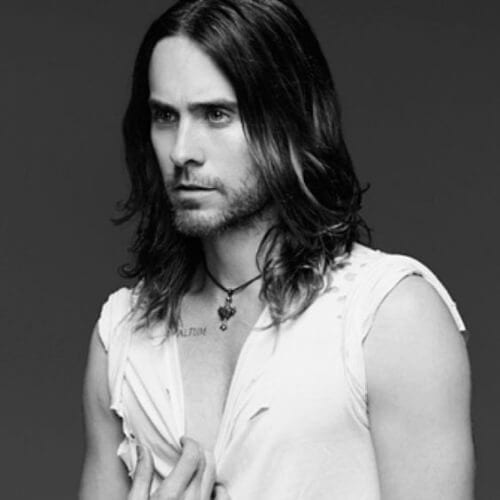 jared leto mens shoulder length hairstyles