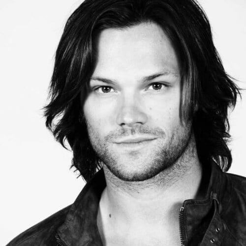 jared padalecki mens shoulder length hairstyles