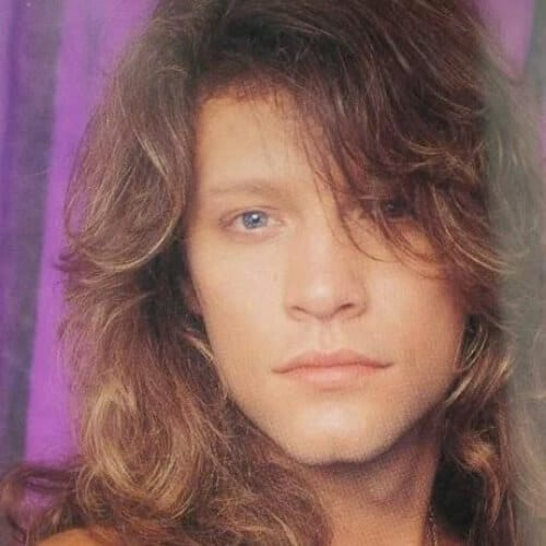 jon bon jovi mens shoulder length hairstyles