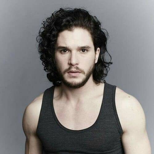 kit harrington mens shoulder length hairstyles