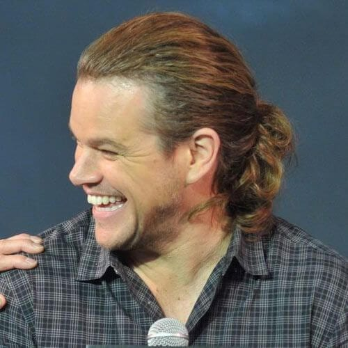 matt damon mens shoulder length hairstyles
