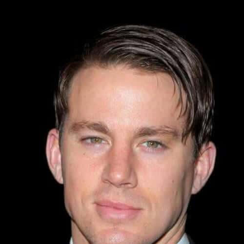 long side swept bangs gel channing tatum haircut