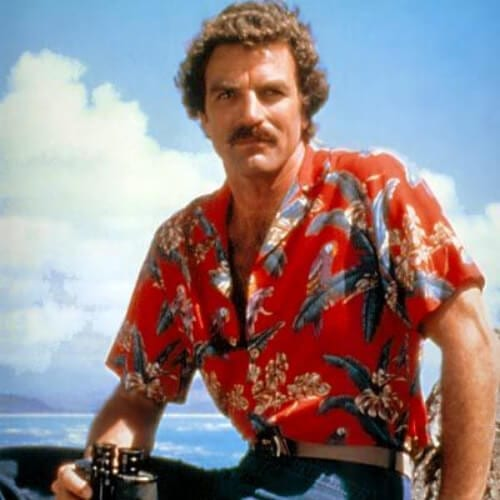 magnum p.i. tom selleck 80s old school haircuts