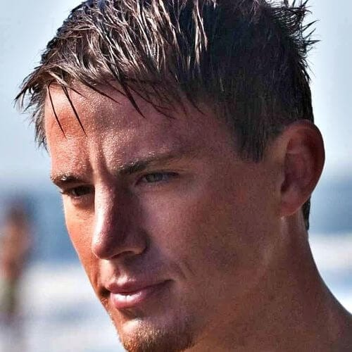 wet look channing tatum haircut