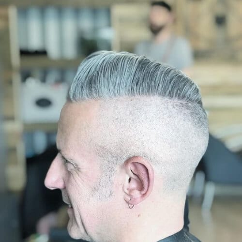 salt and pepper zero fade haircut