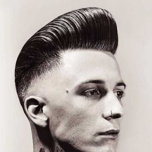 swaggy skin fade pompadour