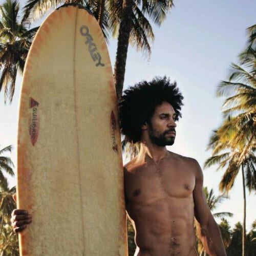 afro surfer hair for men