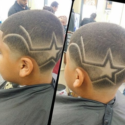 geometric star designs haircuts