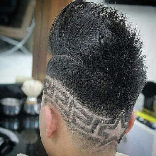 greek star designs haircuts