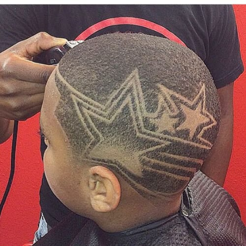 star designs haircuts