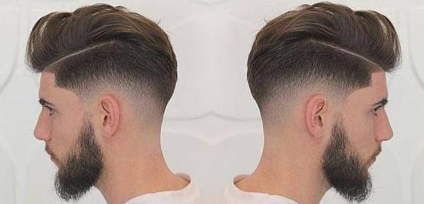 side view of a temp fade haircut