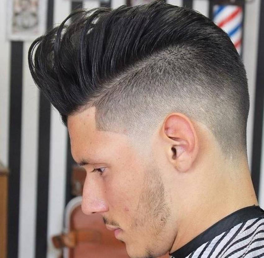 long or short faux hawk