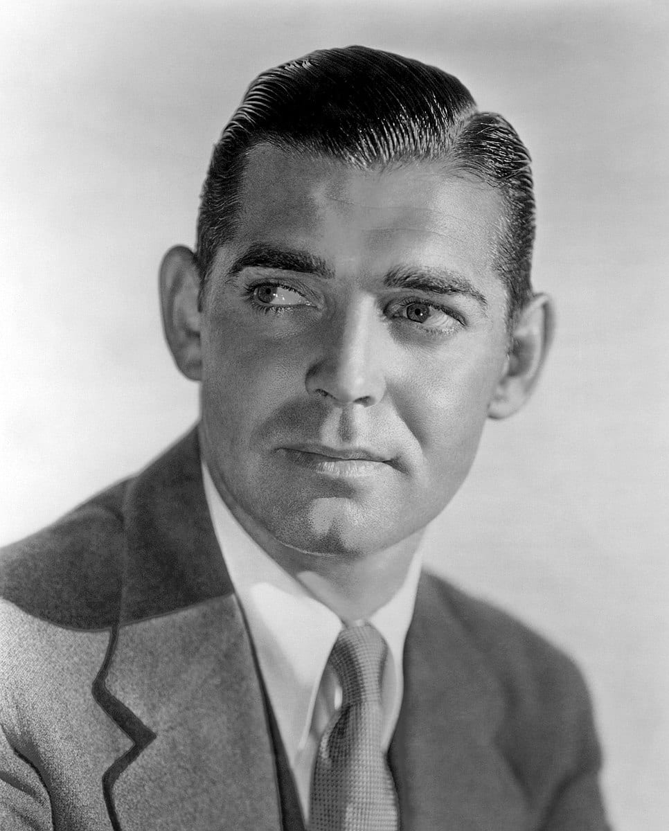 clark gable black and white image