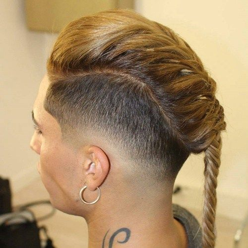 Short Sides with Long top in a Braid
