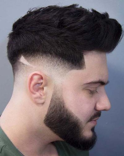 Side Shaved Messy Pomp