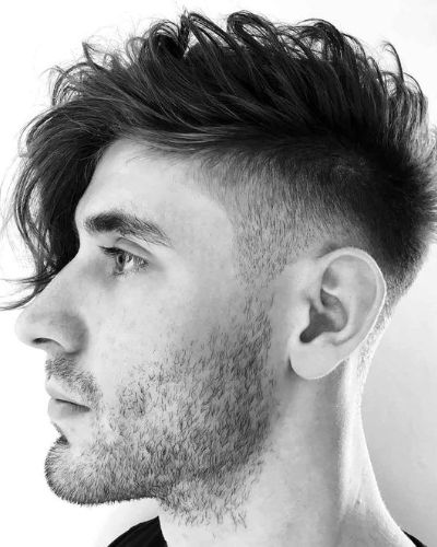 Side Fringe with Undercut and Stubble