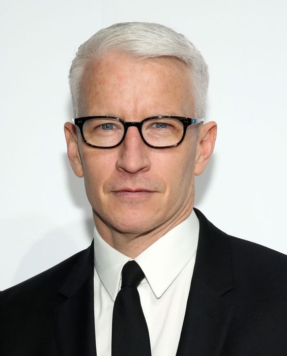 The Anderson Cooper graying hairstyle