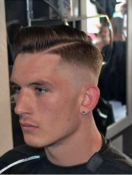 clean and short asymmetrical hairstyles for men